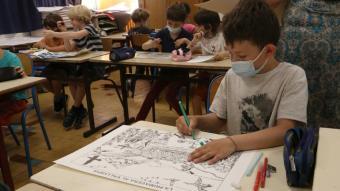 Alumnes de primària de l'escola Arrels-Cassanyes de Perpinyà
