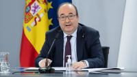 El ministre de Política Territorial, Miquel Iceta, en roda de premsa a Moncloa