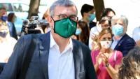 Jaume Clotet és aplaudit en tornar a anar al jutjat d'instrucció 13 de Barcelona, ahir