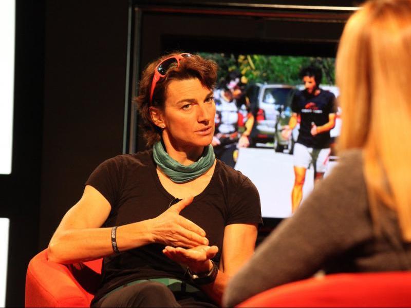 Emma Roca durant una entrevista el 2016