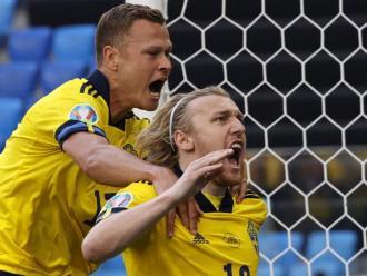 Fosberg celebra el gol del triomf