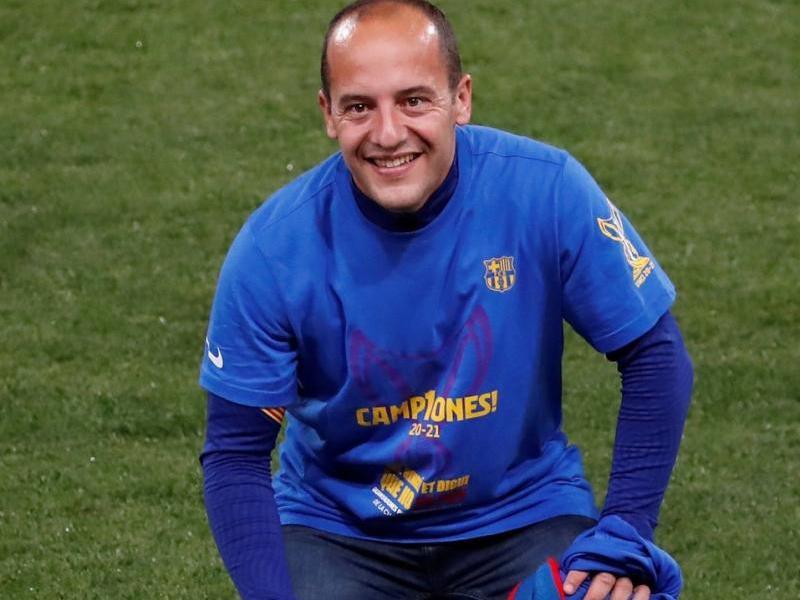 Lluís Cortés amb la champions i la lliga