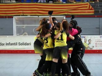 El Mataró celebra l'ascens a l'OK Lliga femenina