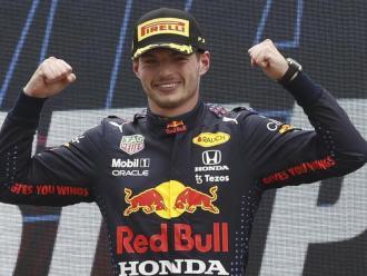 Max Verstappen, en el podi del GP de França