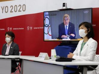 Una imatge de la reunió dels organitzadors i els comitès olímpics