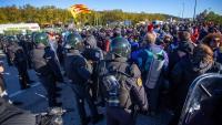 Protesta a l'N-II a la Jonquera, impulsada per Tsunami, el novembre del 2019