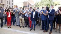 L'excalcalde d'Alcarràs, Miquel Serra, abans d'entrar als jutjats de Lleida
