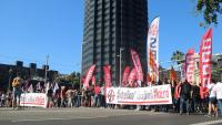 Manifestació dels treballadors de CaixaBank