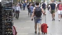 Un turista al centre de Barcelona