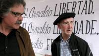 Tasio Erkizia en una acte a favor d'Arnaldo Otegi quan estava empresonat