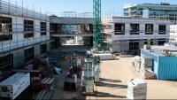 IUmatge d'arxiu de l'estat de les obres del segon edifici polivalent del campus de Cappont de la UdL