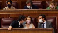 Pablo Casado amb altres dirigents del PP, al Congrés