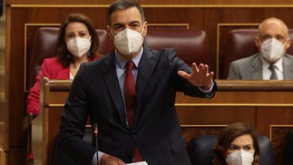 Sánchez rebatia ahir Casado (PP) i el seu prec d'eleccions immediates en la sessió de control al Congrés
