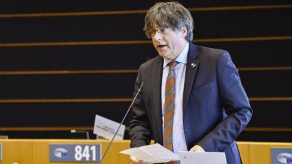 """Carles Puigdemont reclamant a l'Eurocambra que els líders europeus """"prenguin nota"""" de l'informe del Consell d'Europa"""