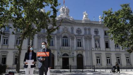 Inés Arrimadas i Edmundo Val davant el Tribunal Suprem