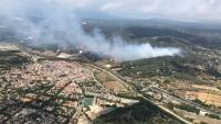 Estabilitzat l'incendi d'Argentona que ha cremat 11 hectàrees