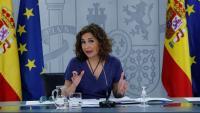 La portaveu del govern espanyol, María Jesús Montero, a la roda de premsa posterior al Consell de Ministres