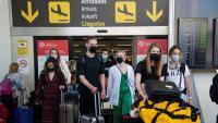 Viatgers arribant a l'Aeroport de Mallorca