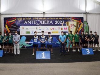 El podi de la categoria juvenil en el campionat d'Espanya