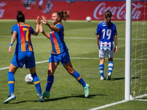 Martens i Hermoso, golejadores en el partit d'ahir