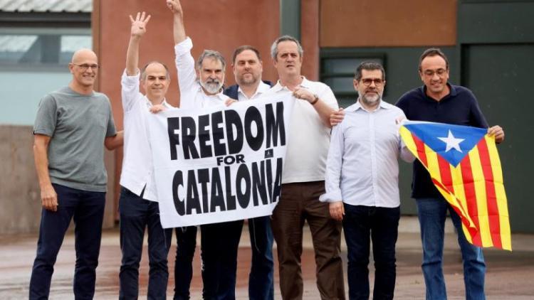 Els set presos polítics de Lledoners, ja lliures
