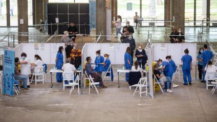 Punt de vacunació de la Covid-19 a Girona