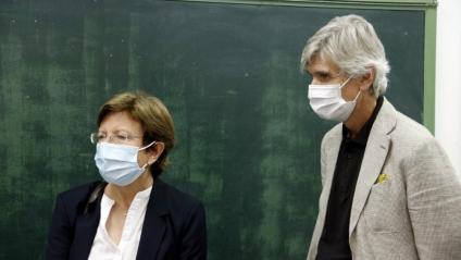 La secretària de Salut Pública, Carmen Cabezas amb el conseller Argimon en una imatge d'arxiu