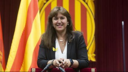 La presidenta del Parlament, Laura Borràs