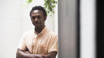 Ousman Umar va ser distingit recentment per la seva feina a la Fundació Nasco amb un dels premis que dona la Fundació Princesa de Girona