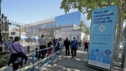 El punt de vacunació de Fira de Barcelona