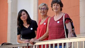 Núria González, Anna Regalon i Rosa Seguí, al centre cívic de l'antic convent de Sant Agustí, a  Barcelona