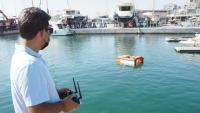 El dron aquàtic encarregat de la neteja de l'aigua dels ports impulsat pel Clúster Nàutic Català
