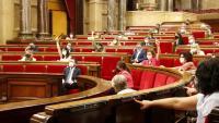 Votació en un ple del Parlament de juliol