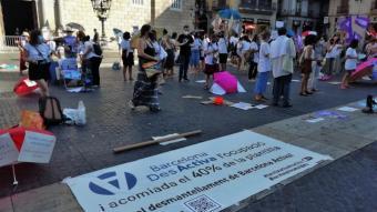 Protesta dels treballadors de Barcelona Activa