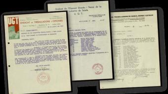 Documents de la UGT del 1937, procedents de l'Arxiu de Salamanca