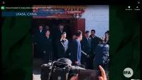 El president xinès, Xi Jinping, en una imatge extreta de YouTube de la visita que va fer ahir al Tibet