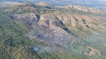 Una imatge de l'abast de l'incendi