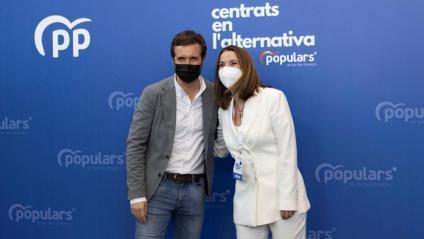 Pablo Casad i la nova líder del PP balear, Marga Prohens
