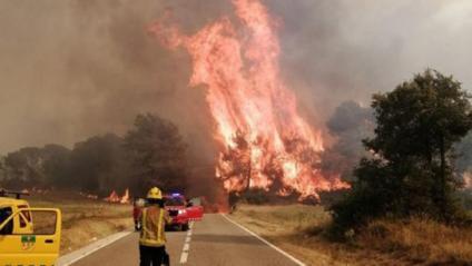 L'incendi a Santa Coloma de Queralt