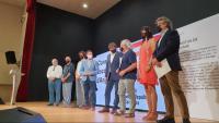 Alguns representants del consell de govern del Consell per la República, amb Carles Puigdemont, a El Soler