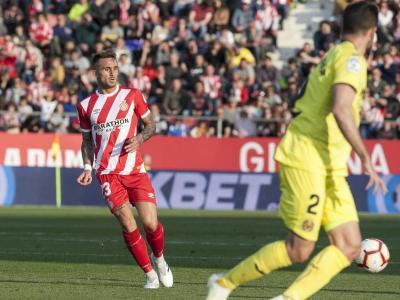 Aleix Garcia, en un partit del Girona del curs 2018/19