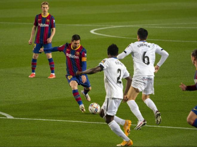 Messi en el Barça-Getafe de la temporada passada