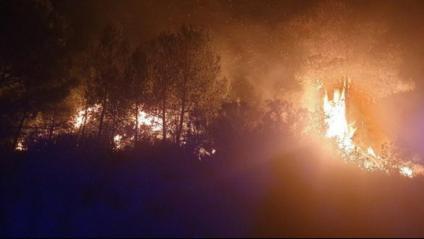 Els Bombers aconsegueixen perimetrar el 80% de l'incendi de la Conca de Barberà i l'Anoia