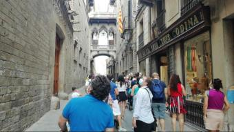 Turistes al centre de Barcelona