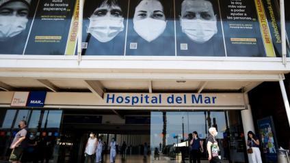 Entrada de l'Hospital del Mar de Barcelona