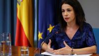 La secretària d'Estat de Sanitat, Silvia Calzón, durant la roda de premsa