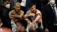 Neymar i Messi després de la final de l'última copa Amèrica