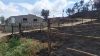 La zona de l'inici de l'incendi de Santa Coloma de Queralt