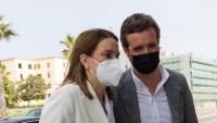 El dirigent del PP, Pablo Casado, aquest cap de setmana passat amb la líder del PP a les Balears, Marga Prohens