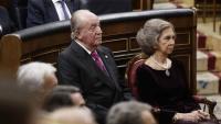 Joan Carles i Sofia en una imatge d'arxiu al Congrés dels Diputats